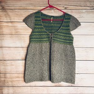 Free people knitted sweater top sz L